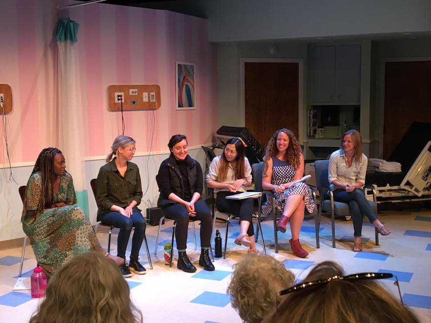 Photo from the talk back of Salt Lake Acting Company's staged reading of *BURST*.