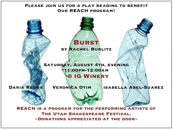 BURST reading with REACH at the Utah Shakespeare Festival graphic.