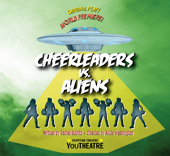 Poster for *CHEERLEADERS VS. ALIENS*.