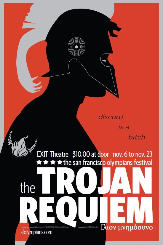 Postcard for TROJAN REQUIEM.