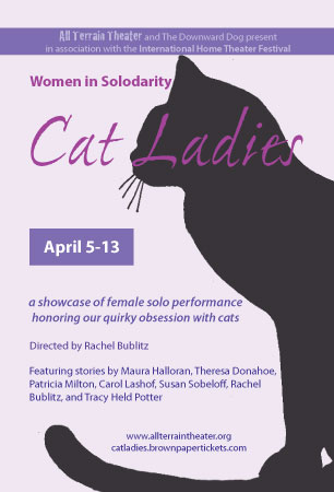 Postcard for Women In Solodarity: Cat Ladies.